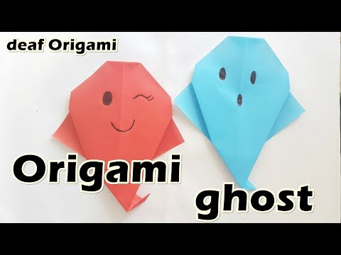 How to Make : Origami ghost | Easy Halloween Decoration for beginners (DIY)