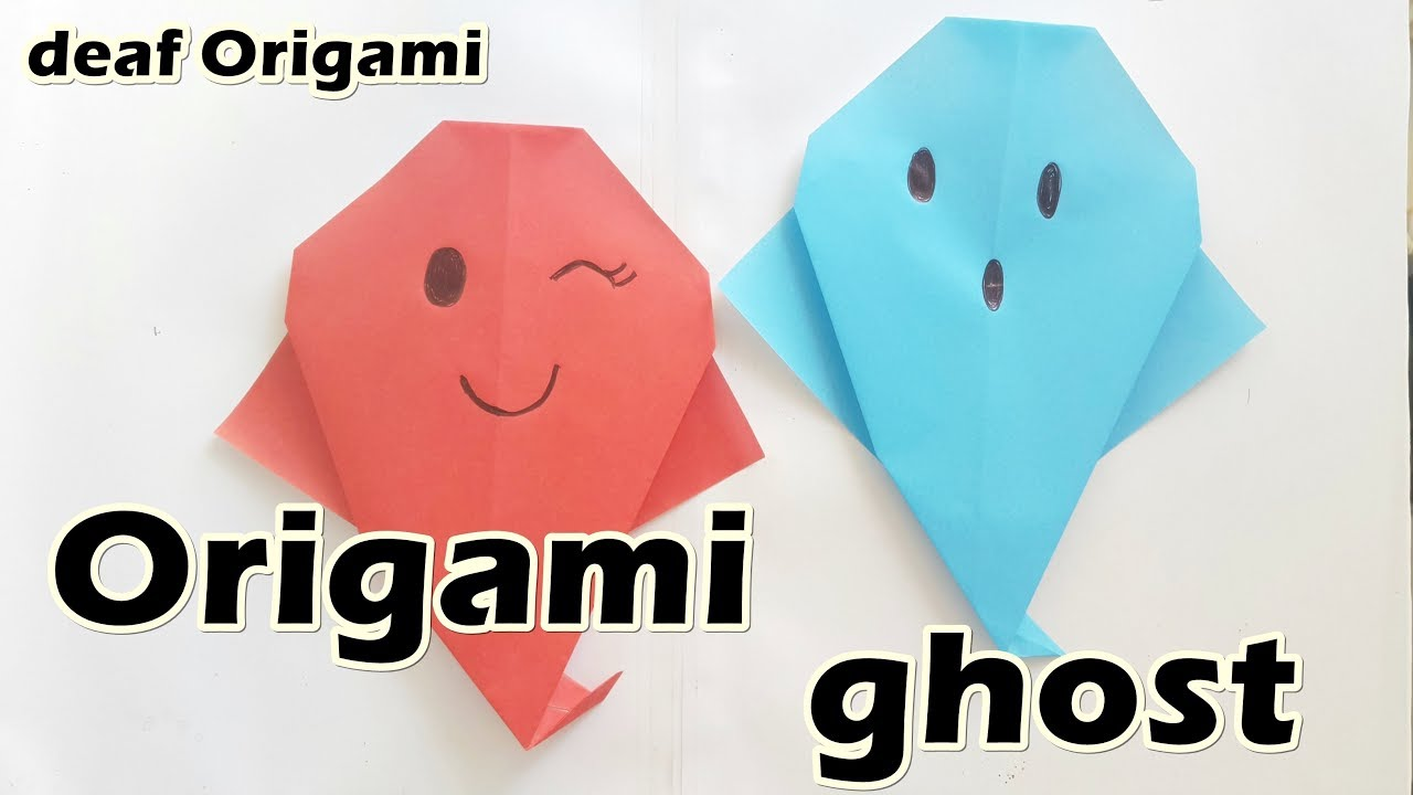 How to make origami ghost easy halloween decoration for how to make origami ghost easy halloween decoration for beginners diy jeuxipadfo Choice Image