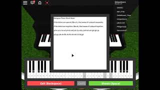 Roblox Piano Sheets Easy Copy And Paste