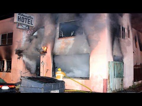 LAFD / Knockdown - Fatal Wilmington Hotel Fire