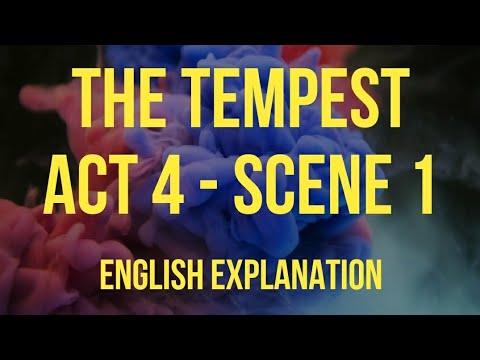 The Tempest Act 4 Scene 1 English Explanation William Shakespeare With Summary Isc Drama Youtube Paraphrase