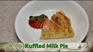 Ruffled Milk Pie, Galatopita,cheekyricho cooking greek dessert. ep.1,223