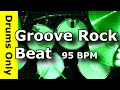 Download Backing Track - Groove Rock Drum Beat 95 BPM - JimDooley.net MP3 song and Music Video