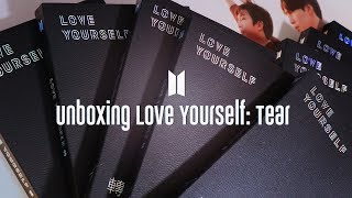 FINALLY unboxing all 4 versions of BTS 'Love Yourself: TEAR' album