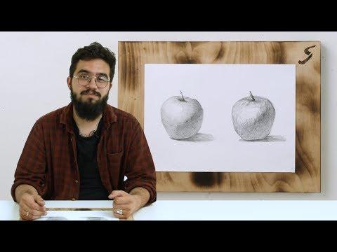 Вопрос: Как рисовать яблоко?