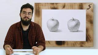 Экспресс-урок по графике «Яблоки»
