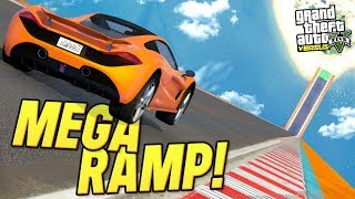 Definitely the BIGGEST Mega Ramp you'll see today in GTA 5 Versus!