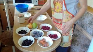 Творог с ягодами(полезный завтрак)!