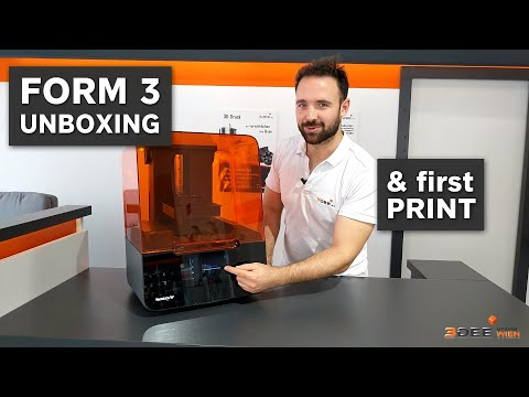 Formlabs Form 3 UNBOXING and first PRINT (german)