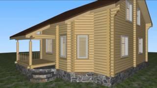 видео Строительство брусовых домов от 200 м2 под ключ – цены и проекты