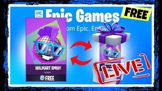 (fortnite bataille royale) Gratuit Walmart Spray Giveaway #live