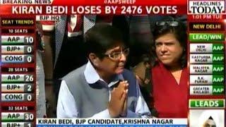 Capital Showdown: Kiran Bedi loses by 2476 votes in Krishna Nagar