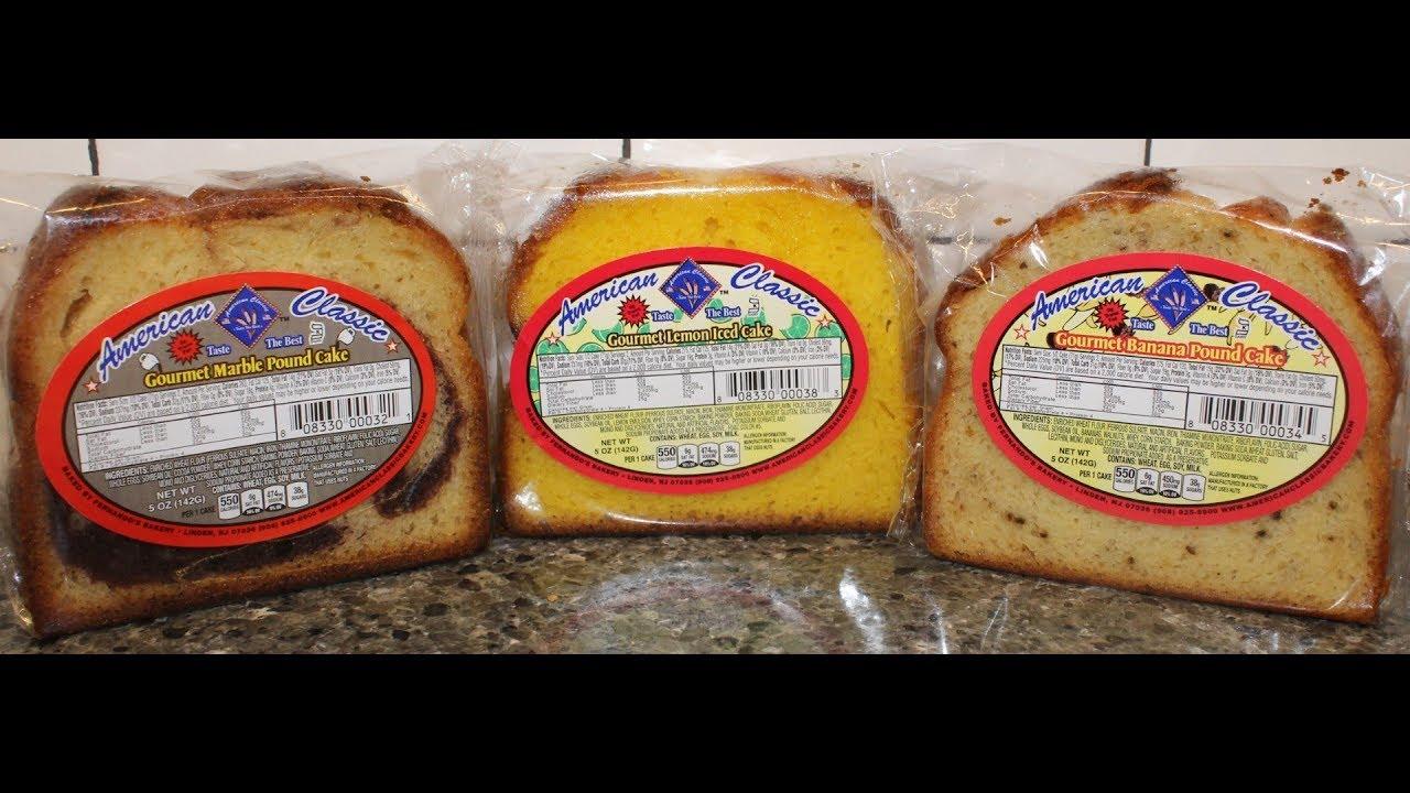 American Classic Lemon Iced Cake Marble Pound Cake Banana Pound