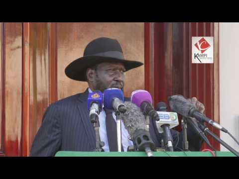 Salva Kiir the President of South Sudan  tours Juba after rumors of his death