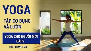 Yoga cho người mới tự tập ở nhà, bài tập cho cơ bụng và lườn | Bài 5