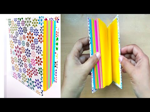 Mini notebook/mini diary/how to make paper little book/paper notebook/diy paper book/paper craft