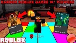 RANDOM ROBLOX GAMES LIVE W/ VIEWERS! (#ROADTO10KSUBS) *MILD LANGUAGE*