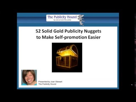 52 Solid Gold Publicity Tips to Make Self-promotion Easier