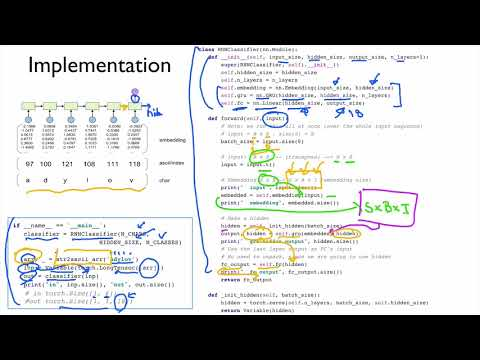 PyTorch Lecture 13: RNN 2 - Classification - YouTube