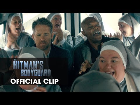 "The Hitman's Bodyguard (2017) Official Clip ""Nuns"" – Ryan Reynolds, Samuel L. Jackson"