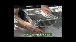 How to setup buffet racks with wicked fuel and water pan for buffet catering