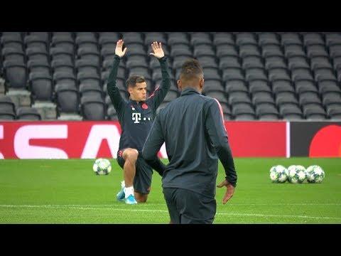 Bayern Munich Train At Tottenham Hotspur Stadium Ahead Of Champions League Clash