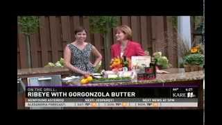 Grass-Fed Beef Ribeye with Gorgonzola Butter (9/5/14 on KARE 11)