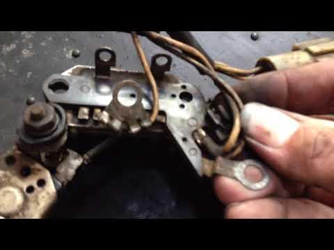 Alternator repair DIY – ooldie .. Isuzu Panther 2300 diesel (1995) – Internal Parts (1)