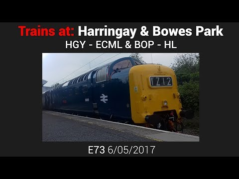 Trains at: Harringay & Bowes Park - ECML/ HL [E73 - 6/05/17]