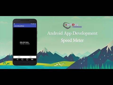 Android Studio Tutorial - Speed Meter Using Google Play Services
