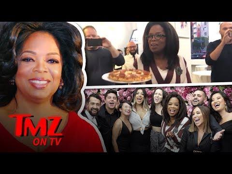 Oprah Brings Her Frozen Pizza's To 'Project Runway' Star | TMZ TV