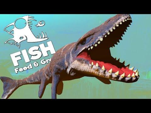 РЫБА ДИНОЗАВР ПОЕДАЕТ ОКЕАН, ВЫЖИВАНИЕ ЗА МОЗАЗАВРА | Feed and Grow Fish