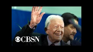 Jimmy Carter hospitalized after fracturing pelvis in a fall