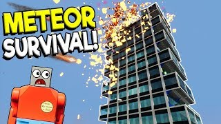 LEGO BUILDING METEOR SURVIVAL CHALLENGE! - Brick Rigs Gameplay Challenge - Lego Building Destruction
