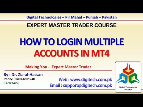 How To Login Multiple Accounts In Mt4 Urdu Hindi Free Advance Forex Training Course