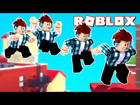 Roblox - PULEI DE UM PRÉDIO !! ( Parkour Roblox )