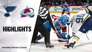 NHL Highlights | Blues @ Avalanche 1/15/21
