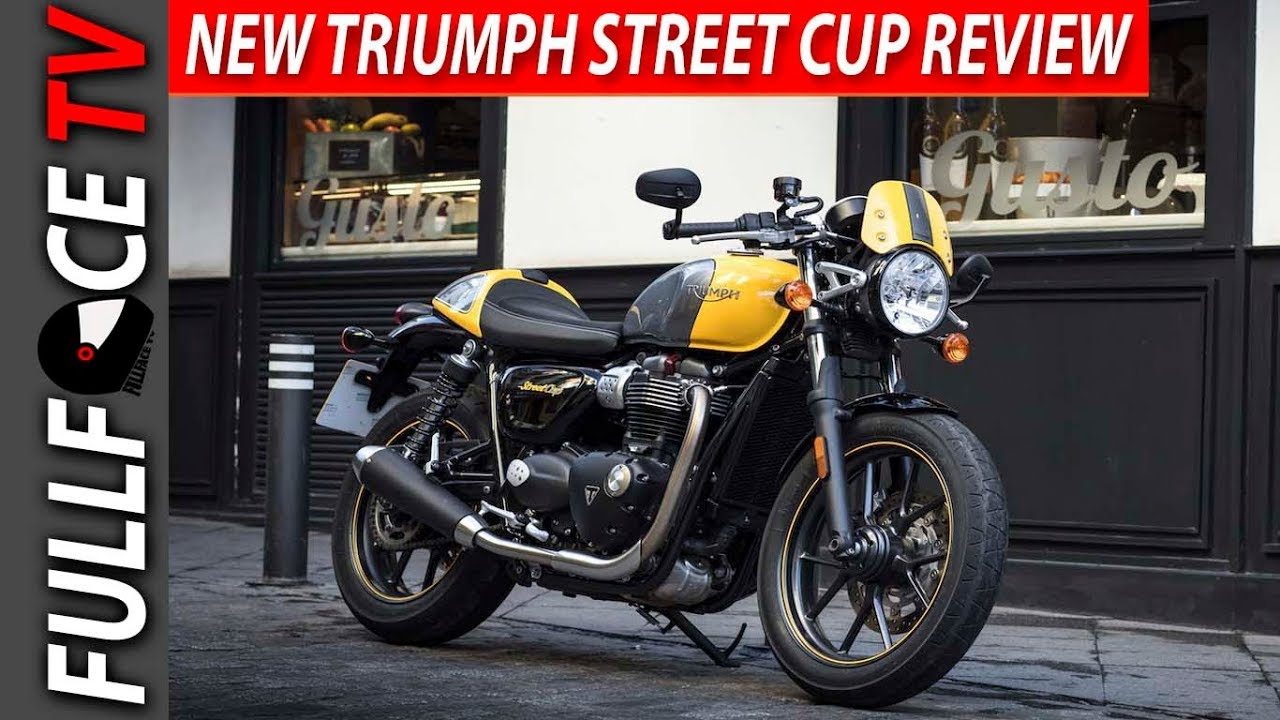 2017 triumph street cup exhaust and review - youtube