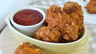 Crispy Fried Chicken Wings - How To Make Corn Flake-crusted Chicken Wings
