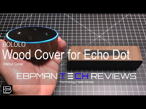 Balolo Wood Cover for the Echo Dot and Anker Speaker