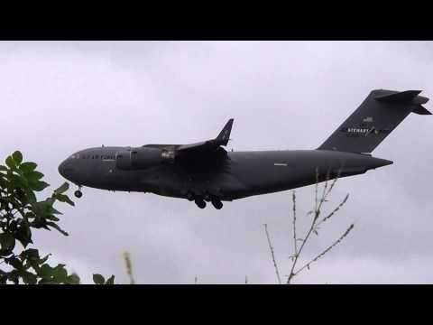 U.S. Air Force C-17A Globemaster Low Approach