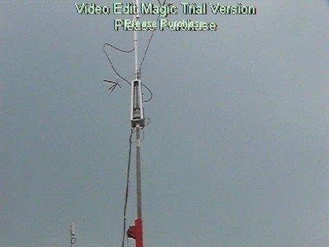 Crank Up Tilt Over Antenna Mast