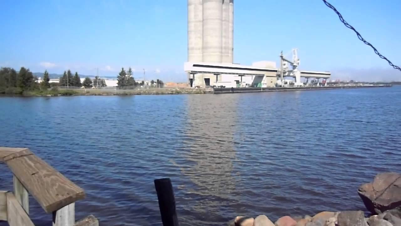 Blatnik bridge and fishing pier duluth mn youtube for Duluth mn fishing report
