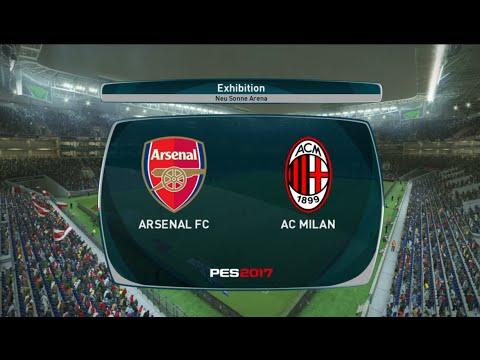 PES 17 Gameplay -Pro Evolution 2017 -Arsenal F.C.vs A.C. Milan (PS4)
