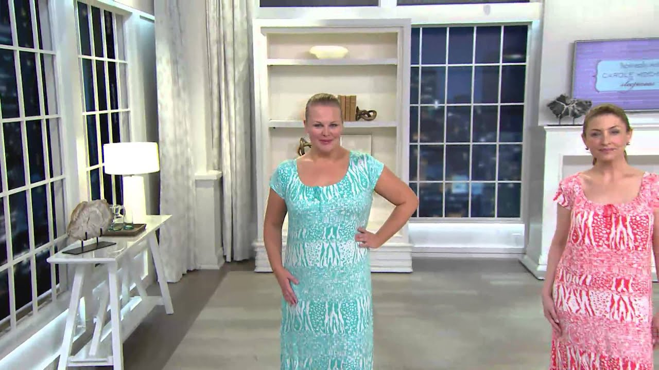Carole Hochman Loungewear Gown with Cap Sleeve with Amy Stran - YouTube