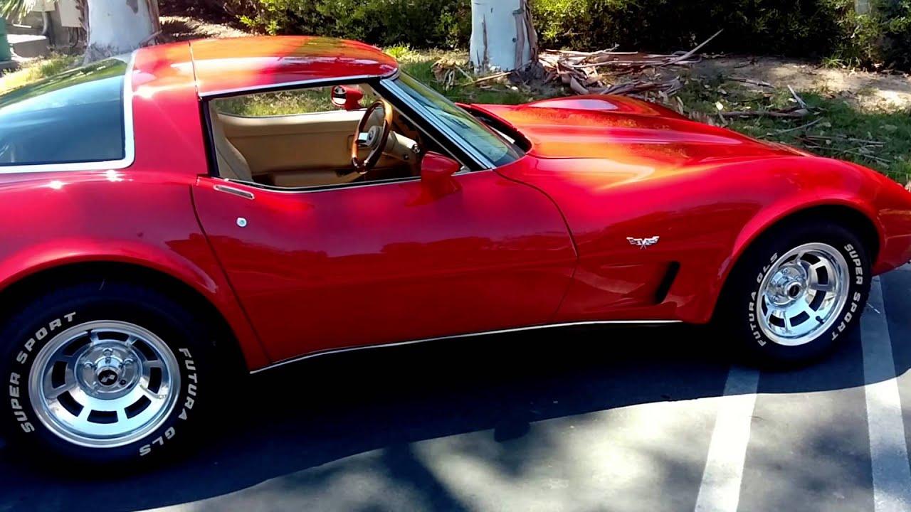 2014 Corvette Stingray For Sale >> 1979 Victory Red Corvette. 96,000 miles. Rust Free, CA car for sale. - YouTube