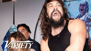 Jason Momoa Performs Haka at \'Aquaman\' Premiere