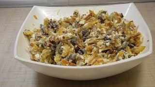 """Салат """"Гостиный двор"""". Очень вкусный салат с картофелем и грибами!"""