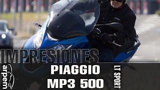 Piaggio MP3 500 LT Sport - español - 2014 - Videoprueba