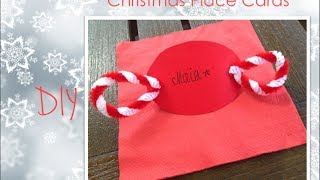 Christmas Diy:: Christmas Place Cards